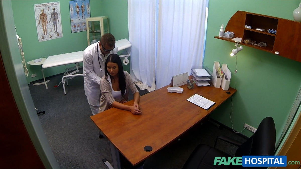 Fake Doctor Porn throughout young girl with bad back has no trouble bending over picture
